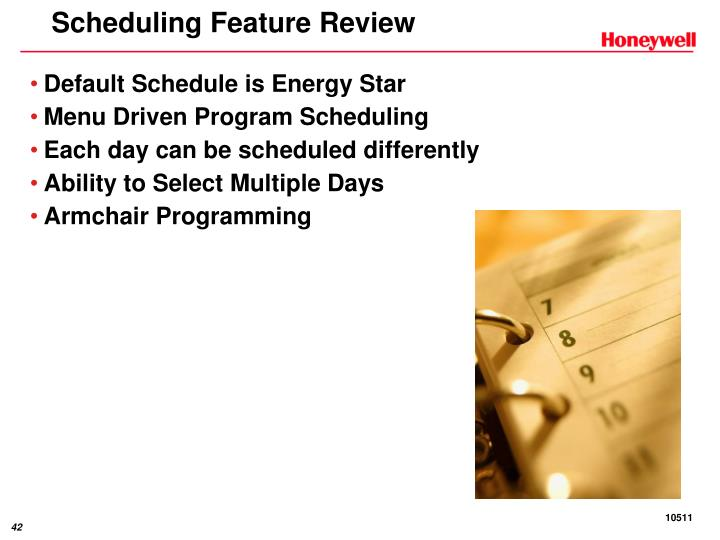 Scheduling Feature Review
