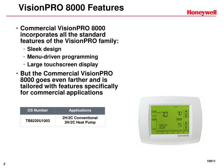 VisionPRO 8000 Features