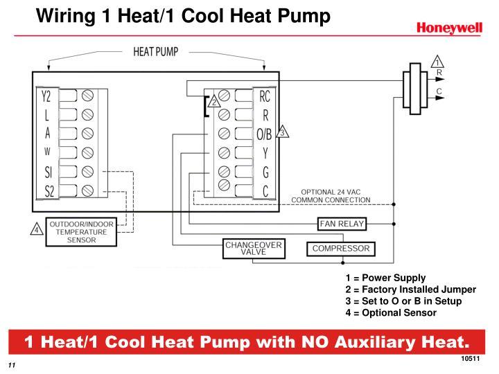 Wiring 1 Heat/1 Cool Heat Pump