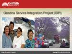 goodna service integration project sip