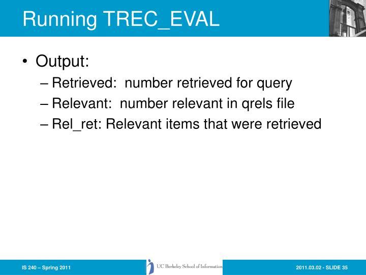 Running TREC_EVAL