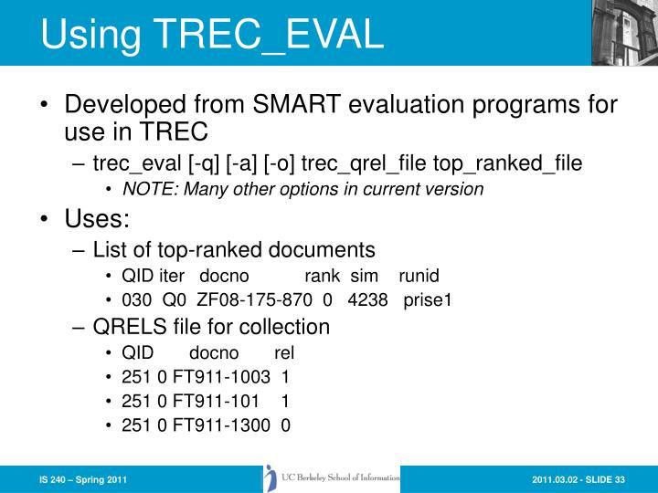 Using TREC_EVAL