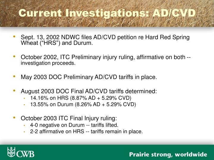 Current Investigations: AD/CVD