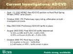 current investigations ad cvd