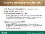 current investigations ds 276