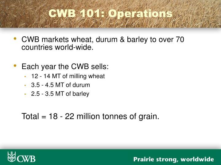 CWB 101: Operations
