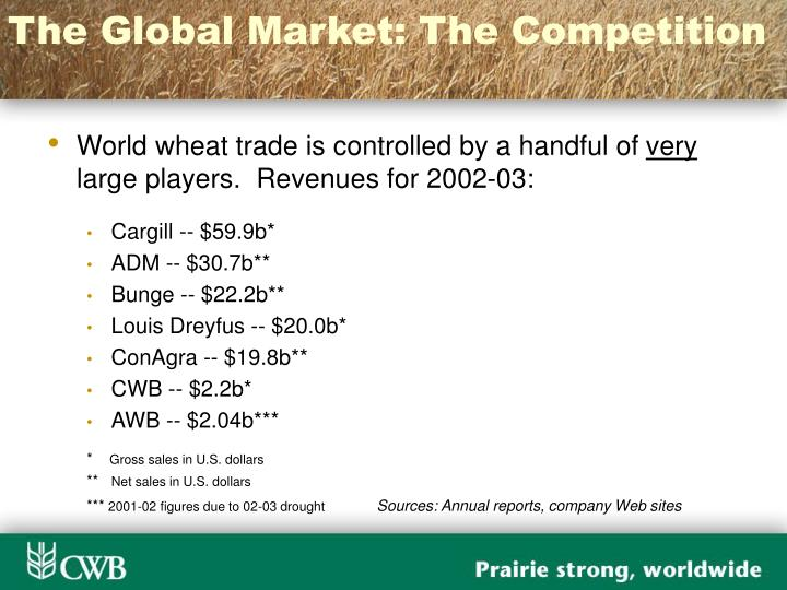 The Global Market: The Competition