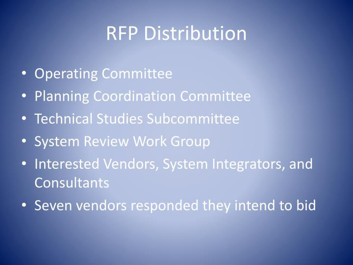 RFP Distribution