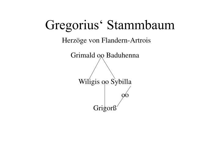 Gregorius' Stammbaum