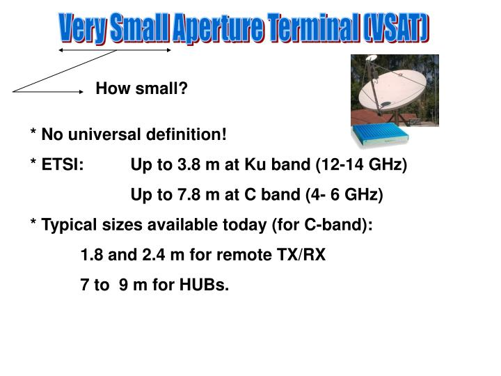 Very Small Aperture Terminal (VSAT)