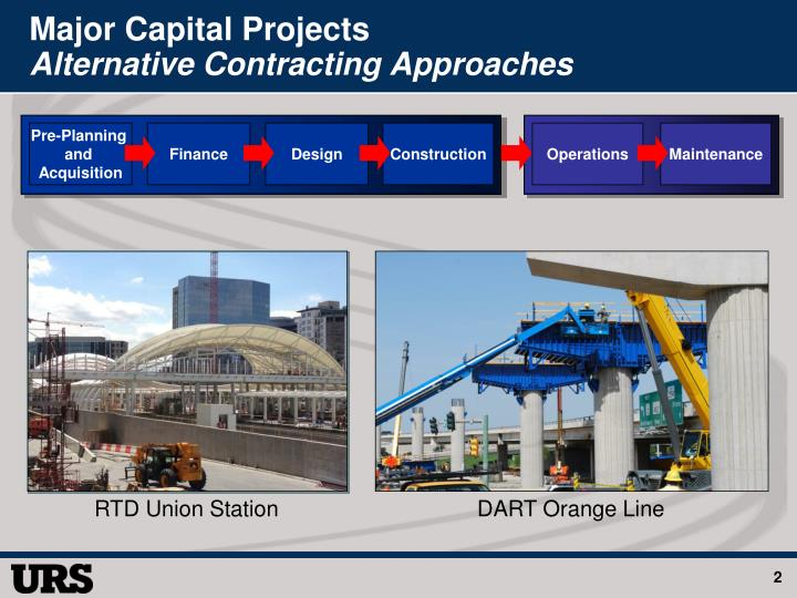Major capital projects alternative contracting approaches