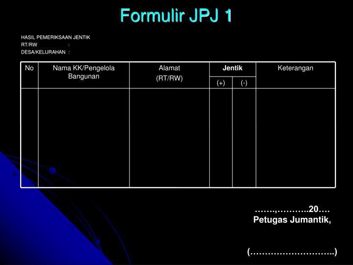 Formulir JPJ 1