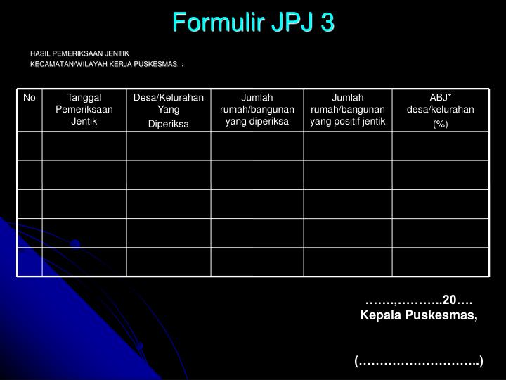 Formulir JPJ 3