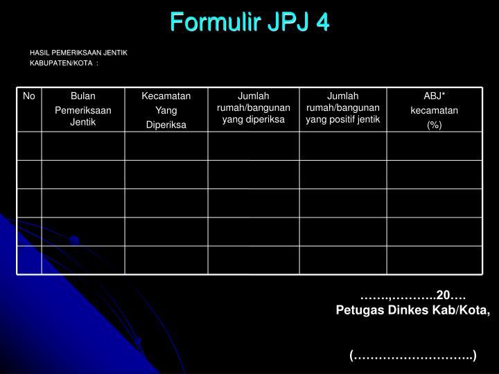 Formulir JPJ 4