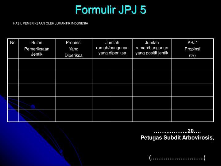 Formulir JPJ 5