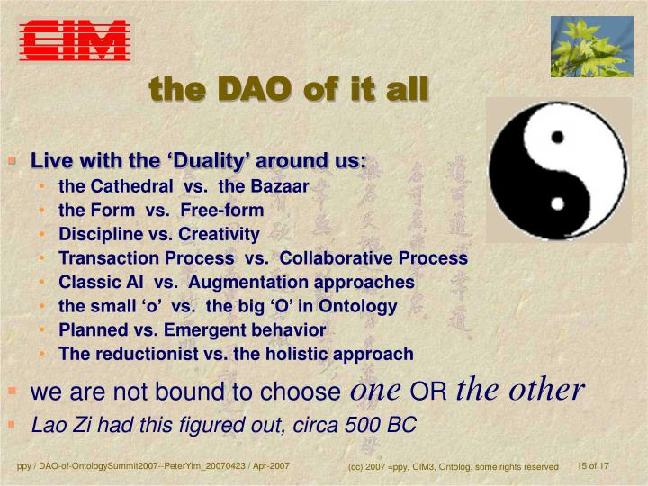 the DAO of it all
