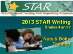 2013 star writing grades 4 and 7