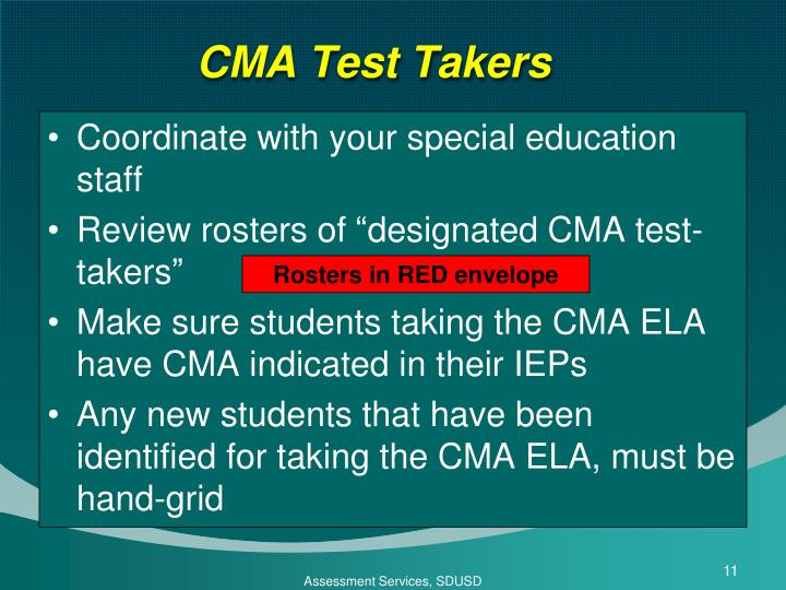 CMA Test Takers