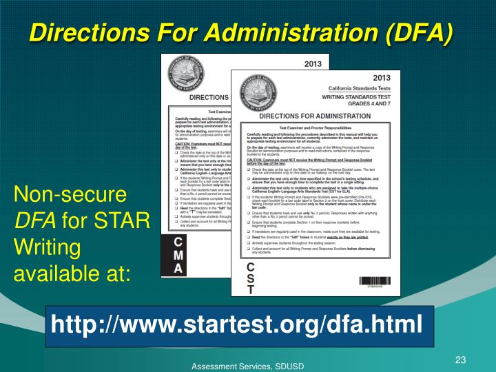 Directions For Administration (DFA)