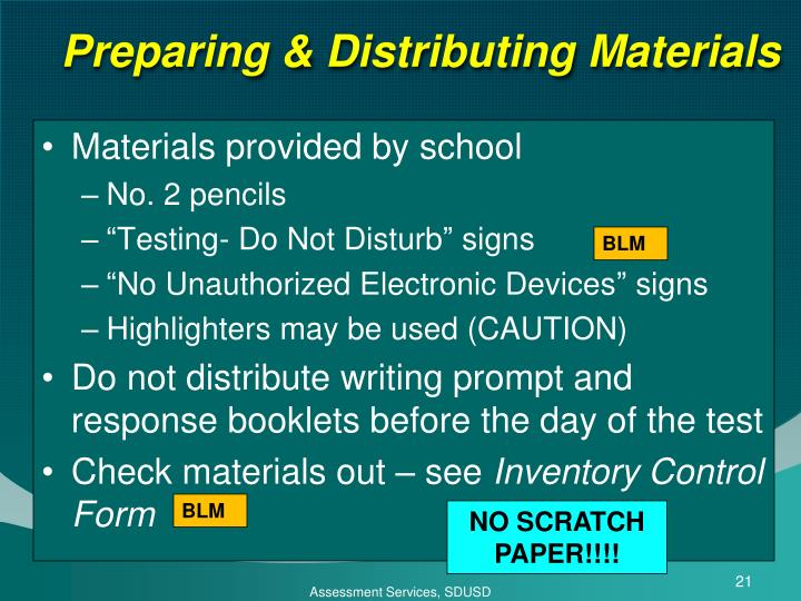 Preparing & Distributing Materials