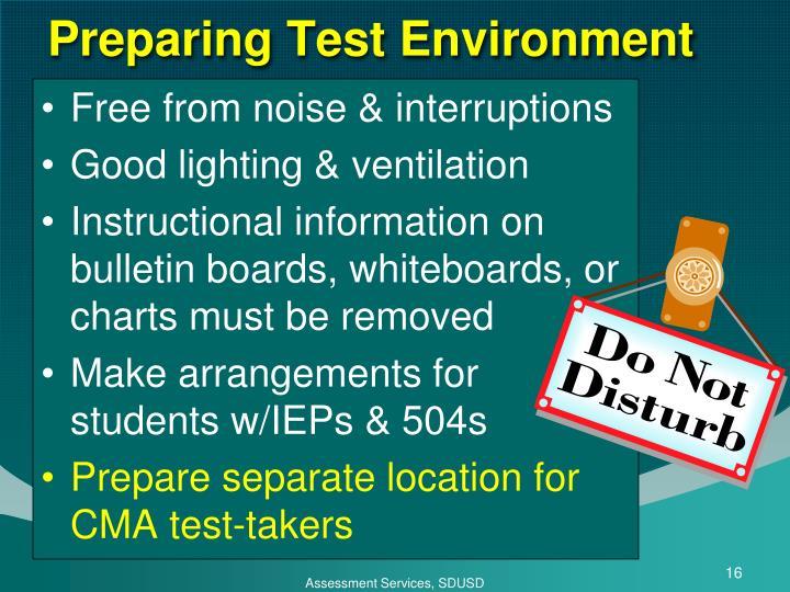 Preparing Test Environment