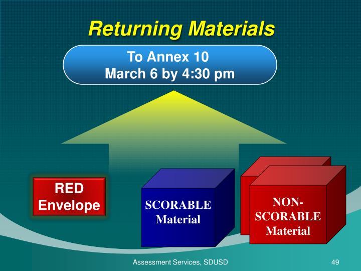 Returning Materials