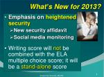 what s new for 2013