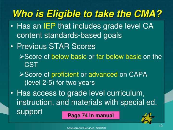 Who is Eligible to take the CMA?
