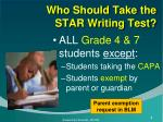 who should take the star writing test