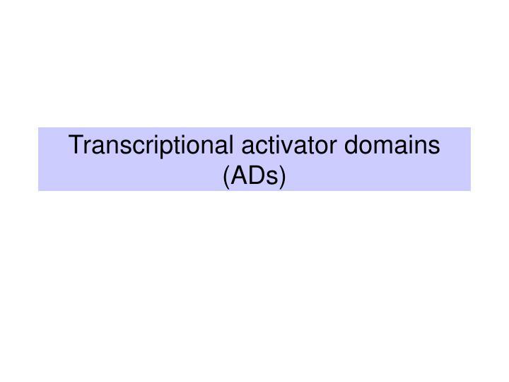 Transcriptional activator domains (ADs)
