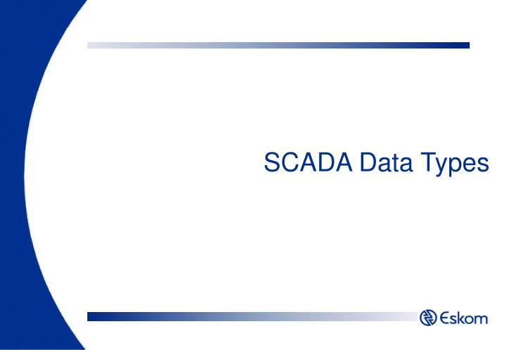 SCADA Data Types