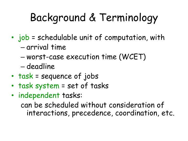 Background & Terminology