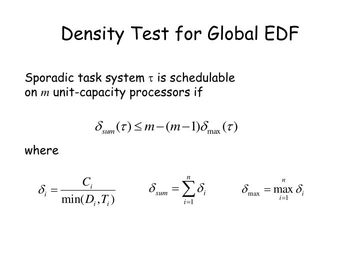 Density Test for Global EDF