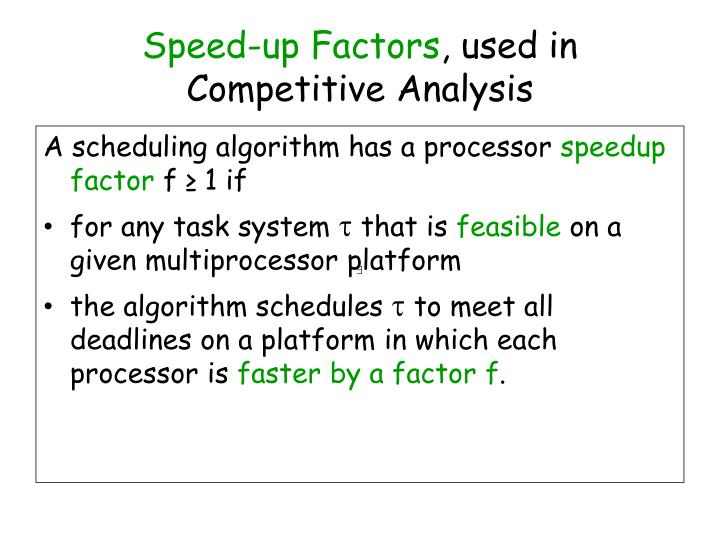Speed-up Factors