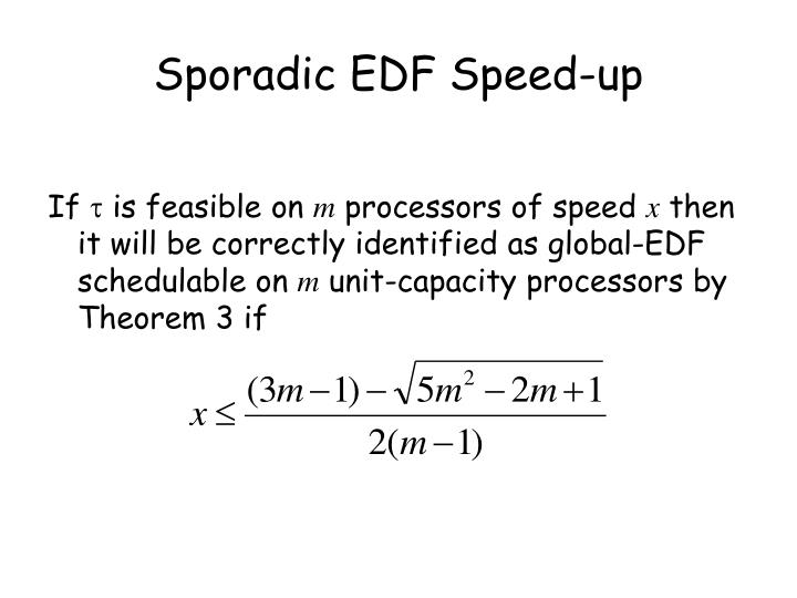 Sporadic EDF Speed-up
