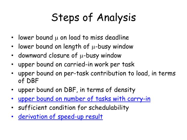 Steps of Analysis