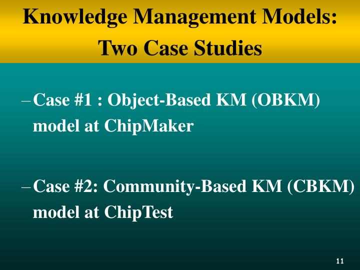 Knowledge Management Models: