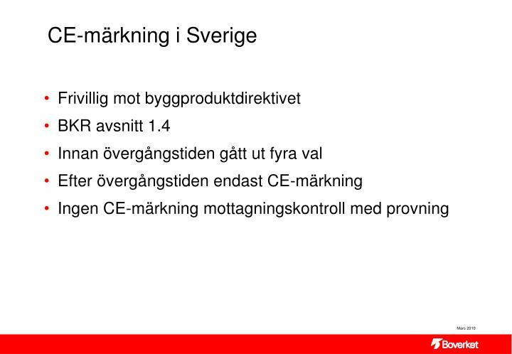 CE-märkning i Sverige