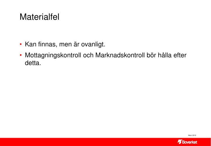 Materialfel