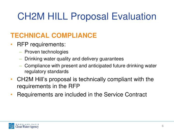 CH2M HILL Proposal Evaluation