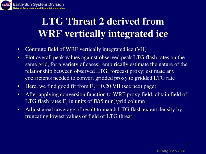 Compute field of WRF vertically integrated ice (VII)