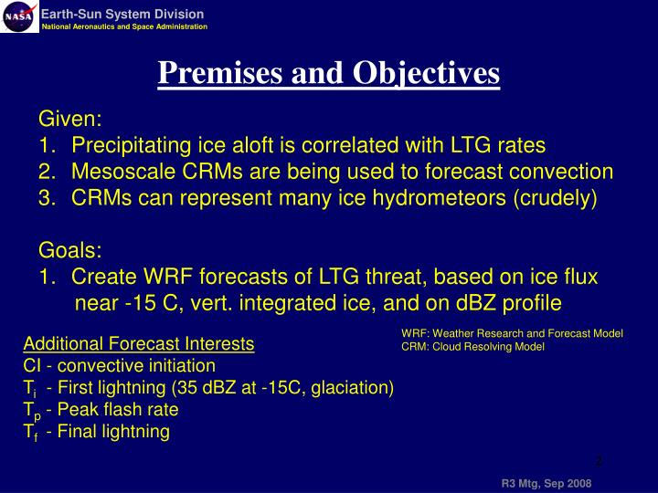 Premises and Objectives
