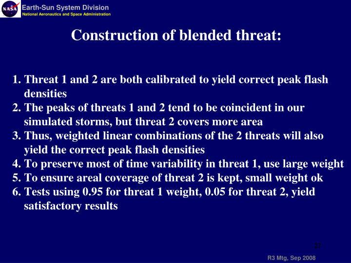 Construction of blended threat: