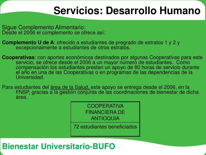 Servicios: Desarrollo Humano