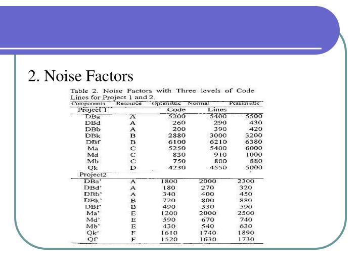 2. Noise Factors