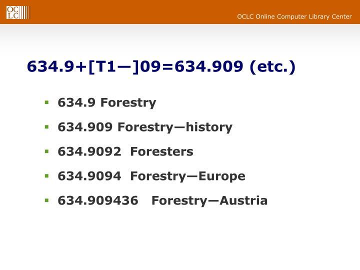 634.9+[T1—]09=634.909 (etc.)