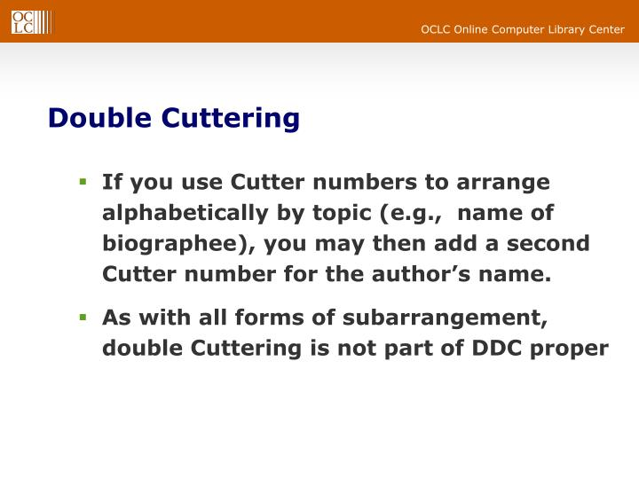 Double Cuttering