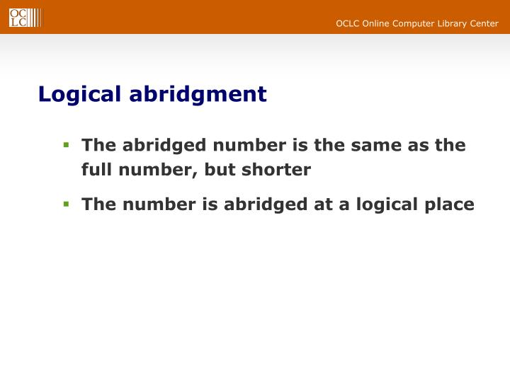 Logical abridgment