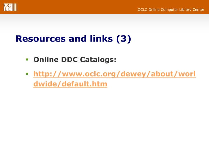 Resources and links (3)