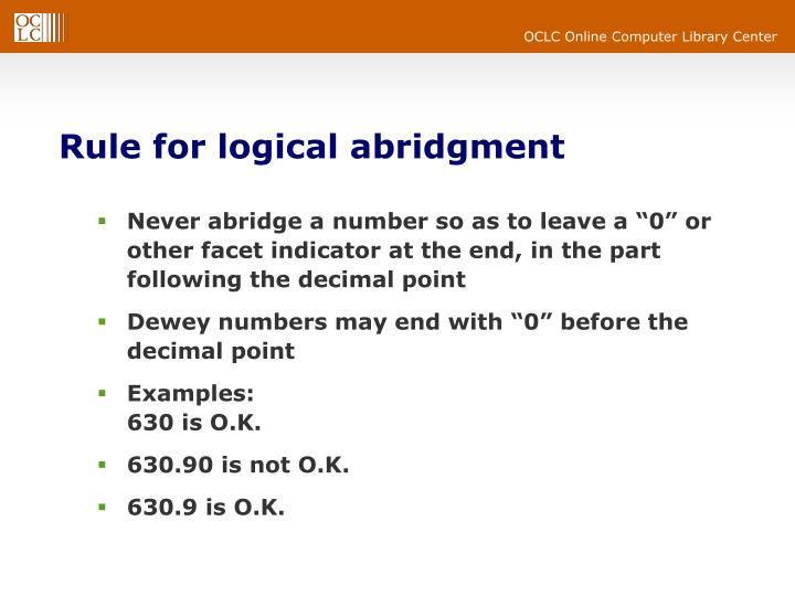 Rule for logical abridgment